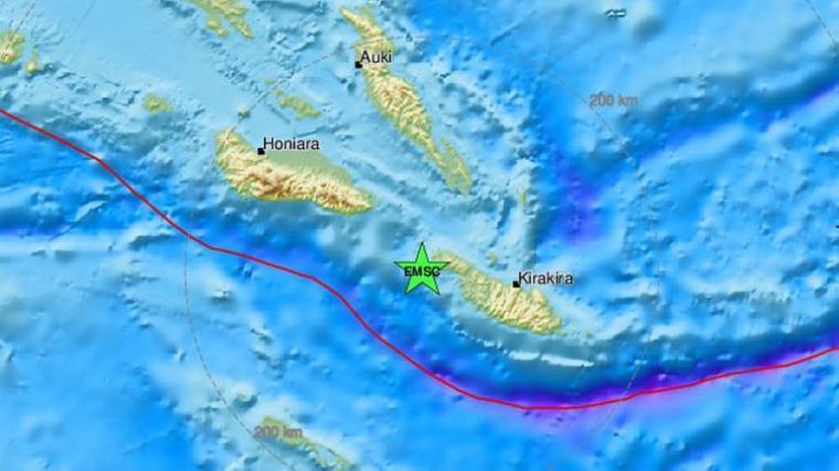 Σεισμός στα Νησιά Σολομώντα
