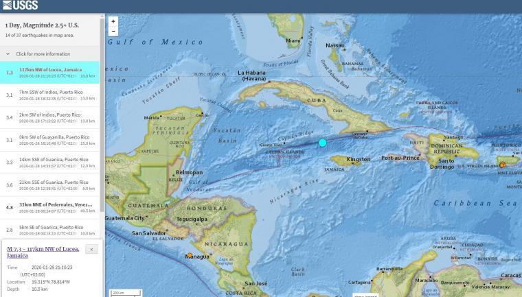 σεισμός Καραϊβική
