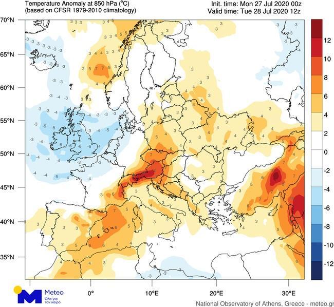 """""""Καμίνι"""" η χώρα - Πού θα δείξει το θερμόμετρο 38 βαθμούς και άνω - Αναλυτικοί χάρτες....."""