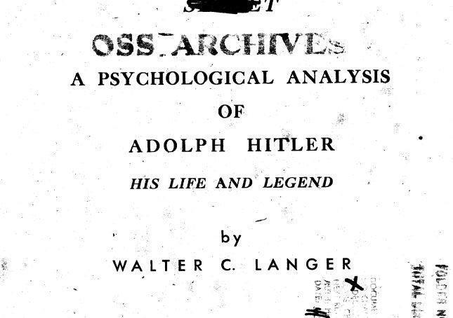 Έκθεση της CIA για τον Χίτλερ