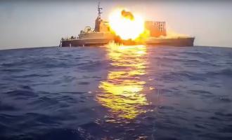 βύθιση πλοίου με πύραυλο