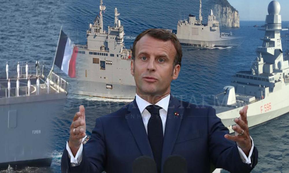 Ο Μακρόν στέλνει το ''Charles de Gaulle'' νοτίως της Κρήτης