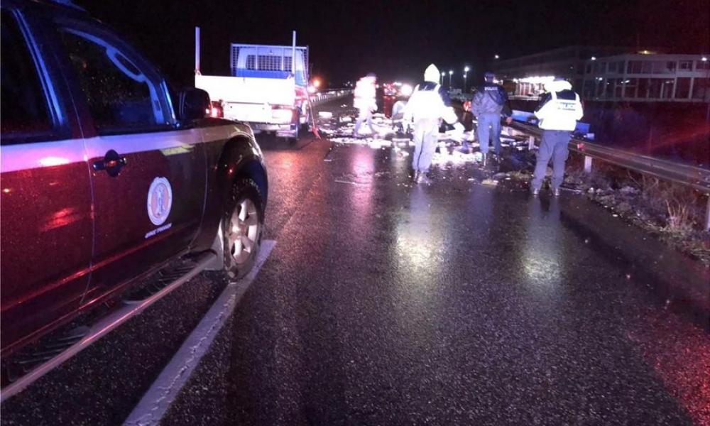 Τρίκαλα: Φορτηγό διήνυσε απόσταση 8 χιλιομέτρων στο αντίθετο ρεύμα