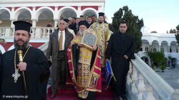 Οι Τήνιοι εόρτασαν τα 171 χρόνια από τη θαυμαστή διάσωση της αγίας εικόνας της Μεγαλόχαρης
