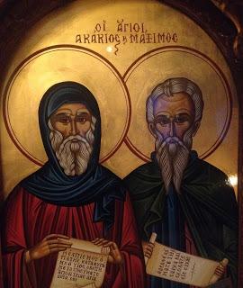 Άγιοι Μάξιμος, Ακάκιος, Πορφύριος