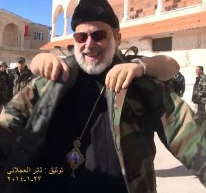 Ο αρχιεπίσκοπος Δαμασκού του ελληνορθόδοξου Πατριαρχείου στη Μονή Χερουβείμ