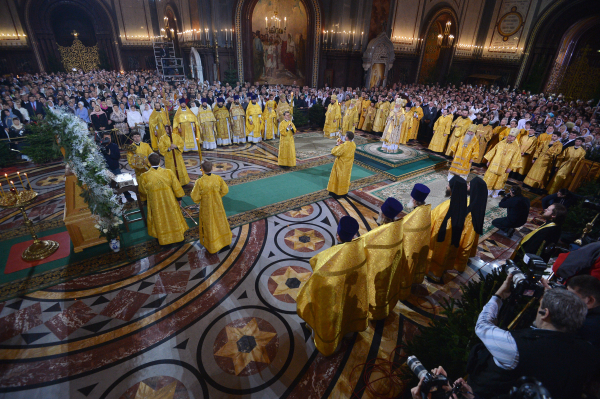 Ο καθεδρικός του Σωτήρα Χριστού στη Μόσχα, αγρυπνία Χριστουγέννων