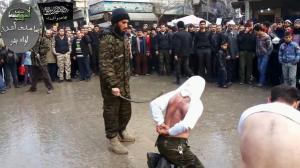 Το δημόσιο μαστίγωμα των παραβατών της προσευχής  στο Χαλεπι