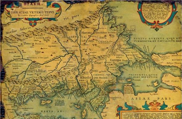 παλαιος χάρτης θράκης