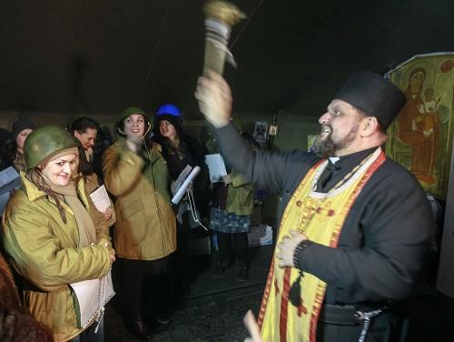 Ουνίτης ευλογεί αντικυβερνητικούς διαδηλωτές(WP)