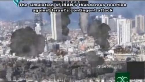 Ο εικονικός βομβαρδισμός σε ουρανοξύστες Τελ Αβίβ
