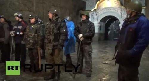 Οι παραστρατιωτικοί καταληψίες στη Λαύρα του Κιέβου