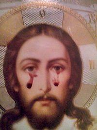 Εικόνα του Χριστού στη Γεωργία αιμορραγεί