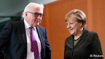 Η καγκελάριος Μέρκελ και ο υπουργός Εξωτερικών Σταϊνμάιερ