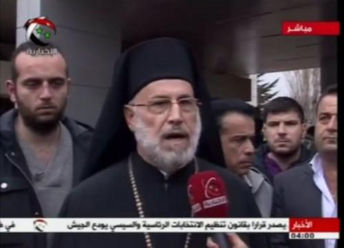 Από δηλώσεις του ελληνορθόδοξου επισκόπου Δαμασκού, Λούκα από τα συρολιβανέζικα σύνορα περιμένοντας τις καλόγριες Συριακή τηλεόραση
