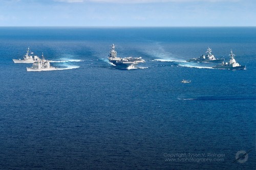 Carrier Strike Group Two CSG2 conducts sea trials in the Atlanti