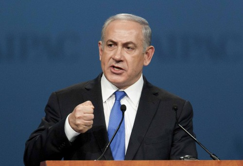 Israeli PM Netanyahu speaks at the AIPAC policy conference in Washington