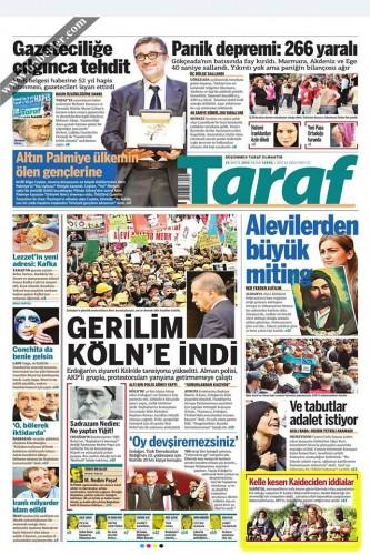 εφημερίδα taraf που επίσης δημοσιοοιεί το θέμα