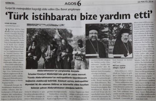 εφημερίδα Agos 23 Mαίου