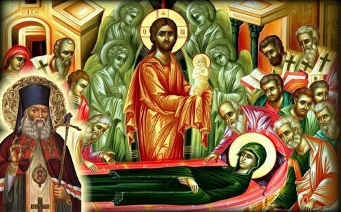 κοίμηση της θεοτόκου άγιος λουκάς
