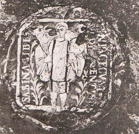O Καλός Ποιμήν, στη βάση ποτηριού. Βρέθηκε στο κοιμητήριο του Παμφίλου στη Ρώμη.
