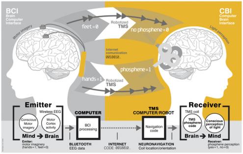 Σύστημα επικοινωνίας από εγκέφαλο σε εγκέφαλο (B2B) - Σχηματική Σύνοψη