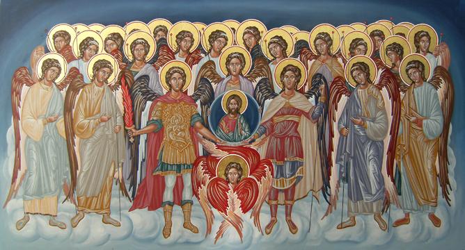 Αποτέλεσμα εικόνας για σύναξισ των αρχαγγέλων και αγγέλων