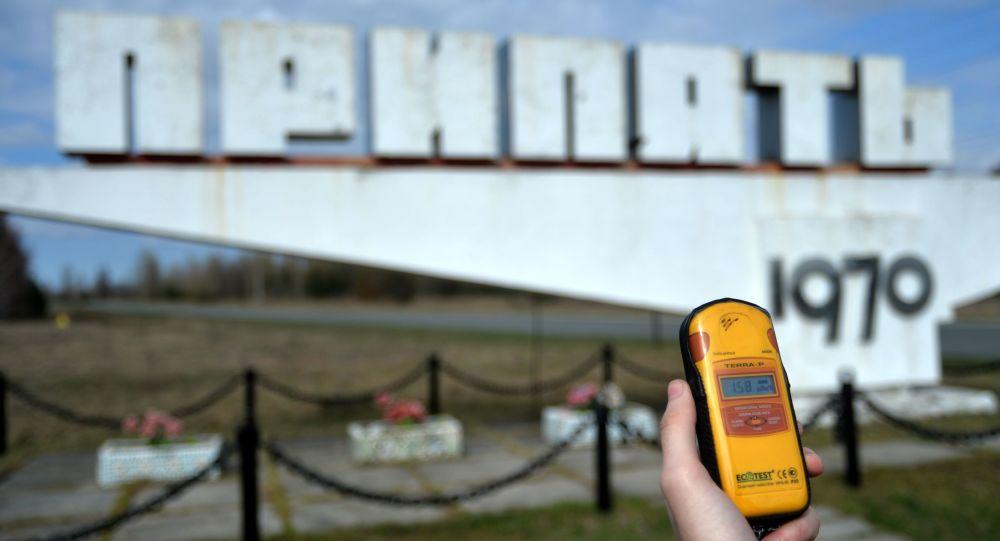 Въезд в город Припять в Чернобыльской Зоне Отчуждения