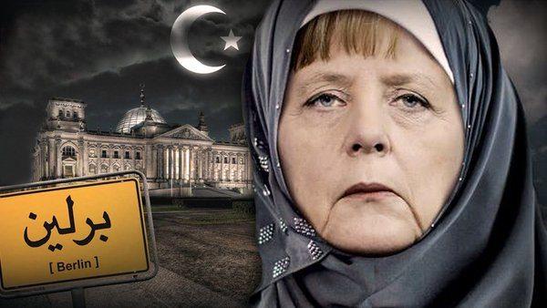 Αποτέλεσμα εικόνας για μερκελ μεταναστες ισλαμ