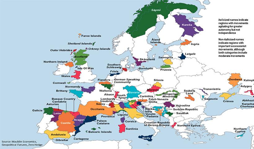 Βόμβα: Δημοσιεύτηκε χάρτης απόσχισης της Β.Ηπείρου – Ξεκίνησε η διάλυση ολόκληρων κρατών της ΕΕ – Ποιες χώρες θέλουν να αποσχιστούν