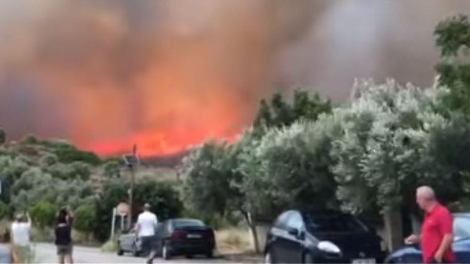 Αποτέλεσμα εικόνας για «Είδα με τα μάτια μου 200 οχήματα και πάνω από 100 σπίτια να καίγονται»: Δραματική η κατάσταση σε Μάτι, Νέο Βουτζά και Κινέτα