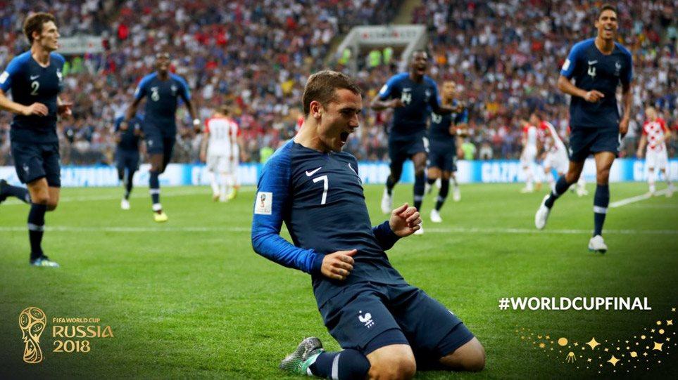ΕΚΤΑΚΤΟ: H Γαλλία εστέφθη πρωταθλήτρια κόσμου: Έριξε 4άρα στην Κροατία
