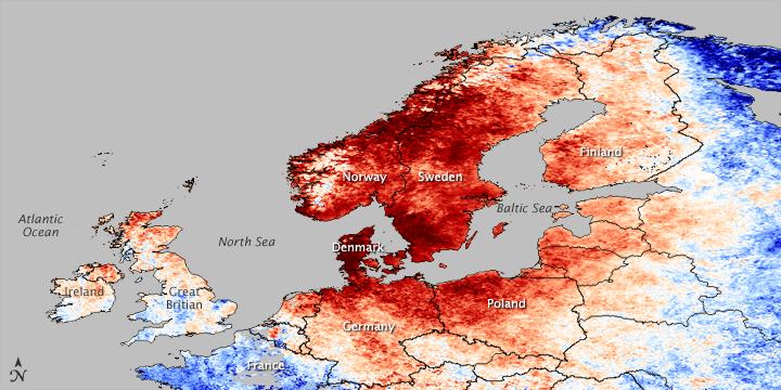 Αποτέλεσμα εικόνας για καύσωνας στη βόρεια ευρώπη, σκανδιναβία